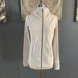Lululemon Women's Jacket Off White full Zip Up